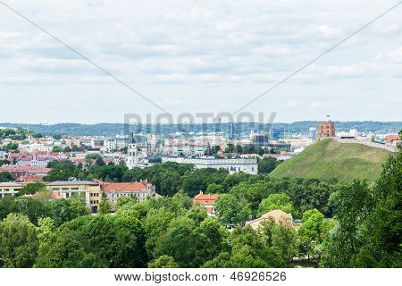 Panoramic view of Vilnius
