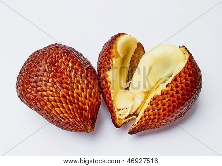 Salac Fruit Macro On White Background