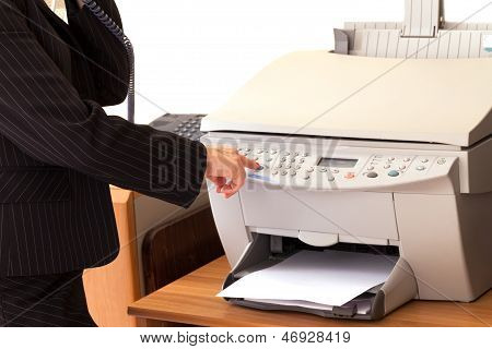Secretary Using Printer