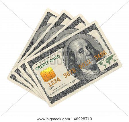 Credit Card designed in Dollar Banknote.