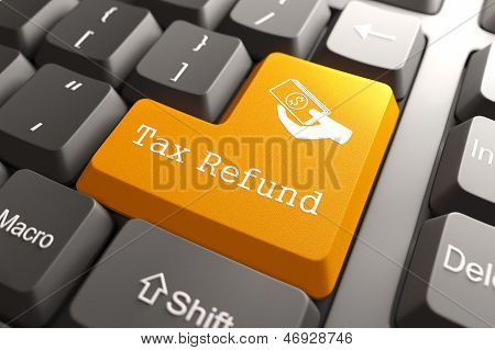 Keyboard with Tax Refund Button.