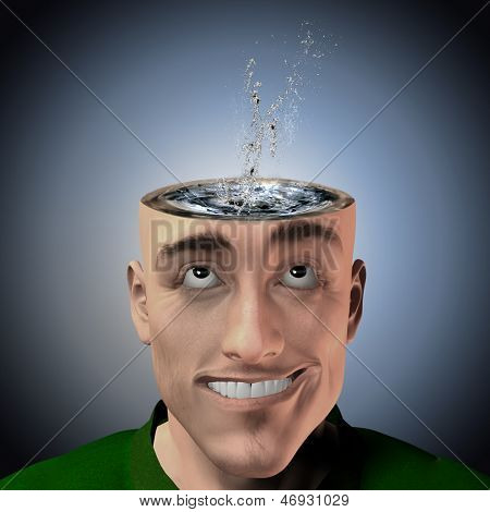 Water inside head splash
