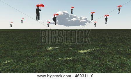 Surreal Floating Men