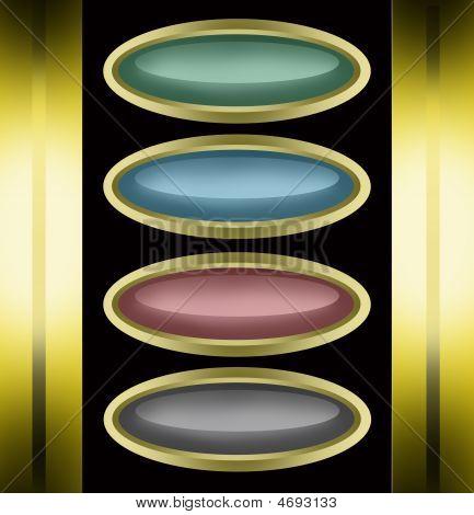 Golden Oval Buttons