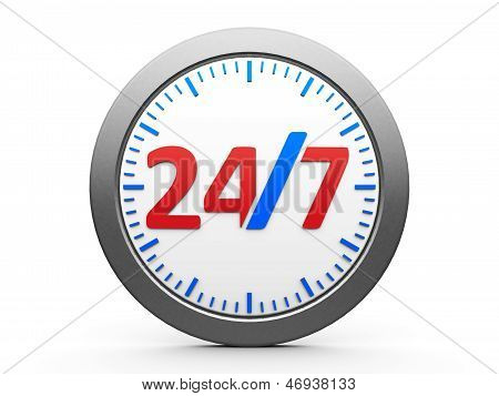 Round-the-clock Service Icon