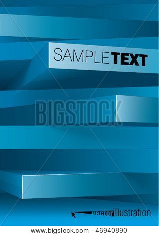 Abstract background of 3d rectangles, you can change the color keeping form.