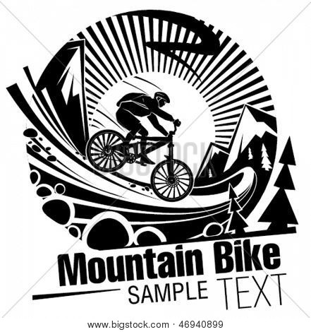 Riding a mountain bike