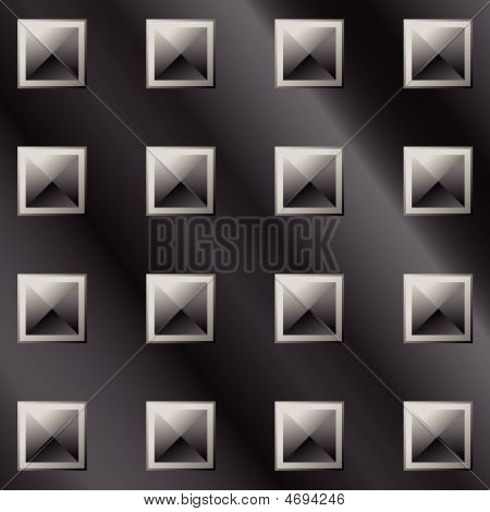 Dark metal pyramids