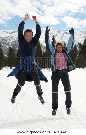 Seniors Jumping