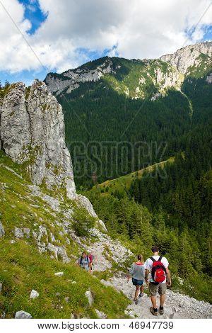 On A Mountain Trail