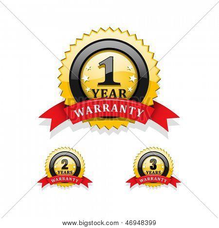 Warranty emblems vector