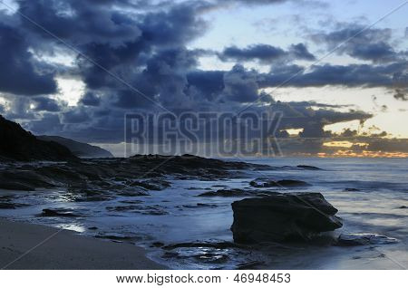 Australia Seascape with Large Boulder