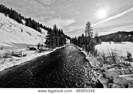 Greys River In Wyoming