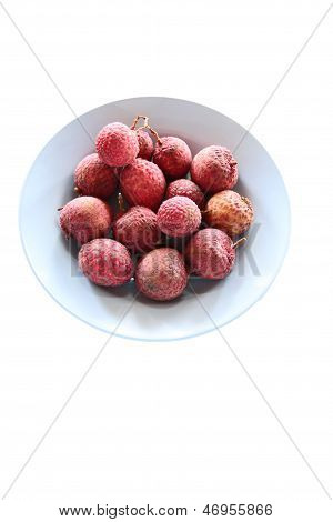 Litchi Or Lychee In The Dish.