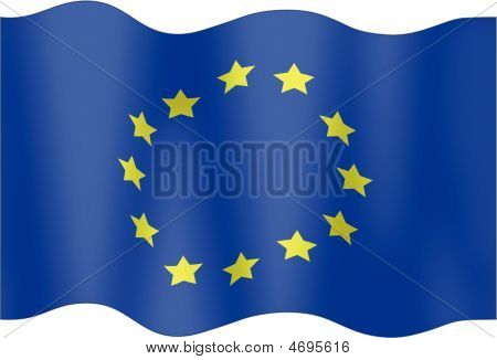 Undulating Flag  European Union