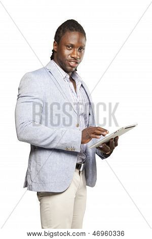 Black Business Man In Light Suit