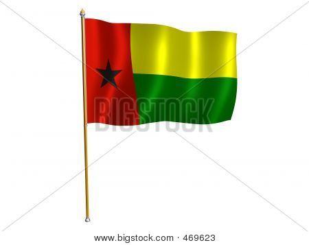 Guinea Bissau Silk Flag