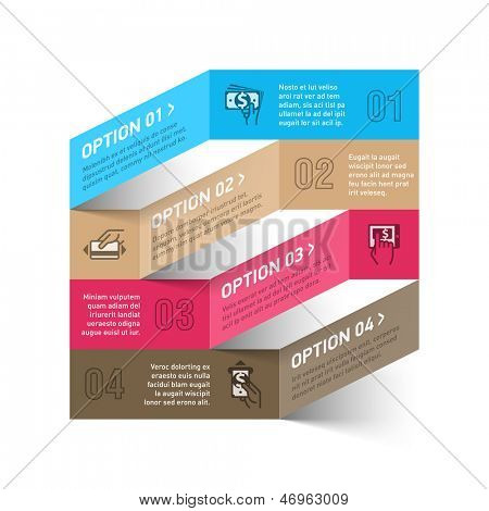 Modern method of payment infographics template. Vector.