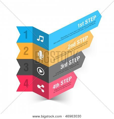 Modern music theme infographics template. Vector.