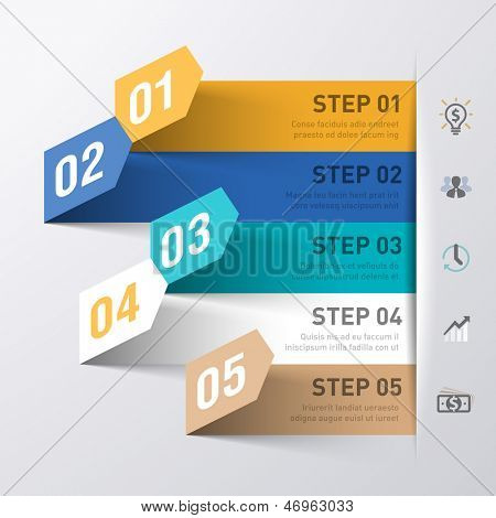 Abstracte business proces infographics sjabloon. Vector.