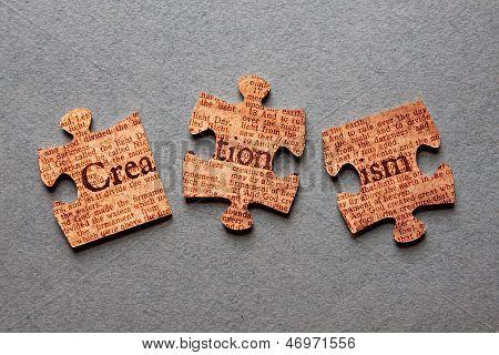 Kreationismus Jigsaw Mismatched