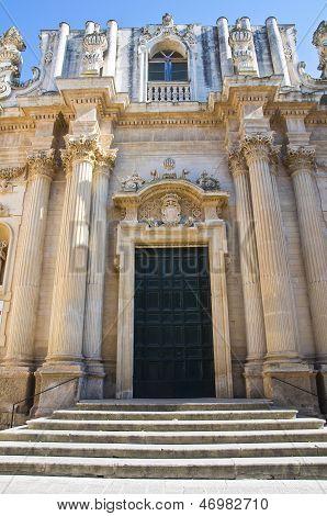 Church of St. Teresa. Lecce. Puglia. Italy.