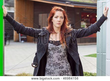 Woman In Entranceway