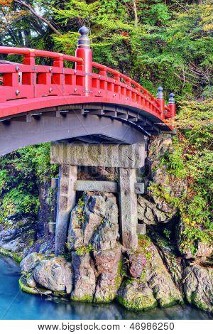 Sacred Bridge of Nikko, Japan. October 30.