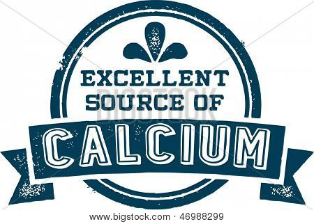 Excellent Source of Calcium Healthy Nutrition Stamp