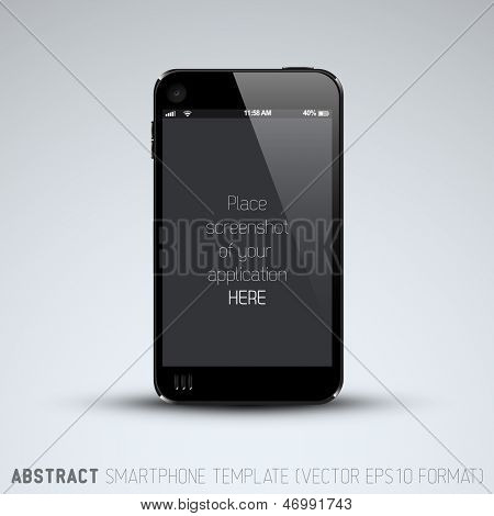 Abstract mobile phone template with place for your application screenshot