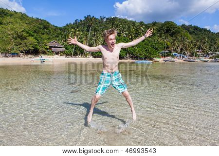 Man Jumping In Water