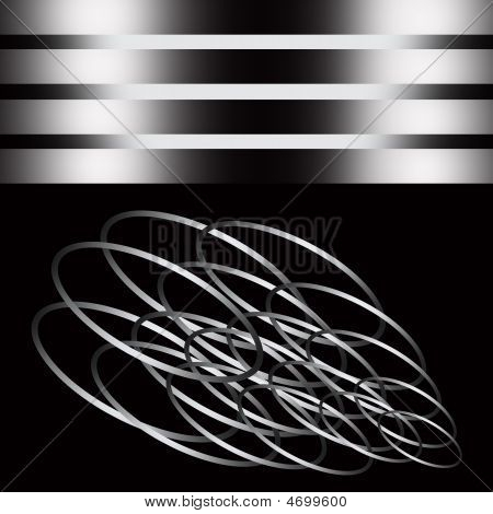 Abstract Metallic Shape In A Sliver Framework