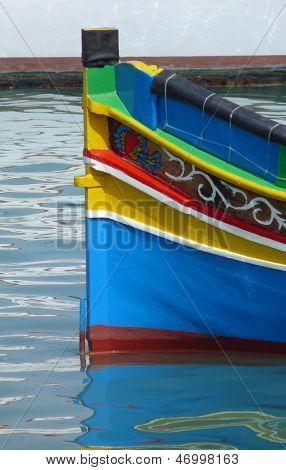 Maltese Luzzu fishing boat