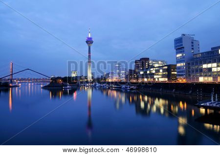 Skyline Of Duesseldorf, Germany