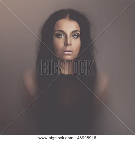 Emotions Dark Girl Portrait