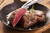 image of porterhouse steak  - beef steak - JPG