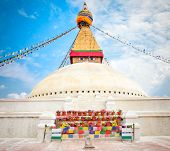 Boudhanath Stupa or Bodnath Stupa  is one of the most remarcable symbols of Buddism is the largest s
