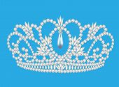Beautiful Diadem Feminine Wedding On We Turn Blue Background