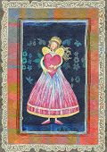 pic of san valentine  - Angels with heart greeting card for Valentine - JPG
