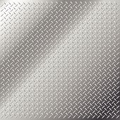 foto of cross-hatch  - Vector background of shiny stainless steel metal with diamond cross hatch tread pattern - JPG