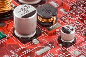 stock photo of pnp  - electronic circuit board - JPG