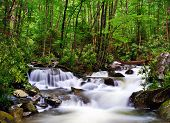 stock photo of gatlinburg  - cascades in the Smoky Mountains of Tennessee - JPG