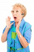 Cellphone Senior Woman - Shocking News