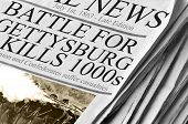 stock photo of rebs  - Battle For Gettysburg Kills Thousands  - JPG