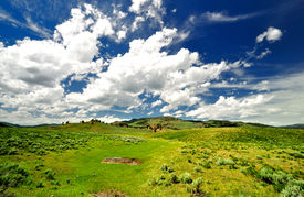 picture of lamar  - A Beautiful Clouds at Lamar Valley at yellowstone national park - JPG