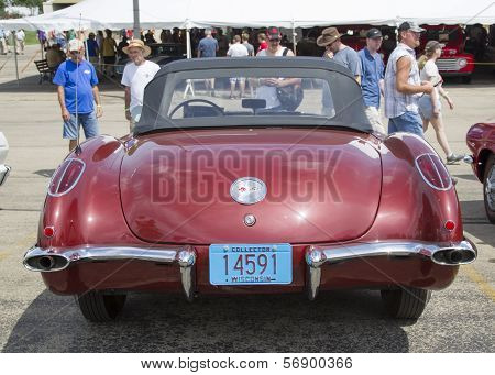 1960 Chevy Corvette Convertible Rear View