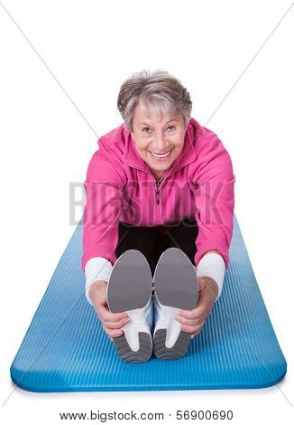 Senior Woman Stretching Her Legs