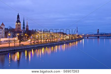 View Of Riga From River