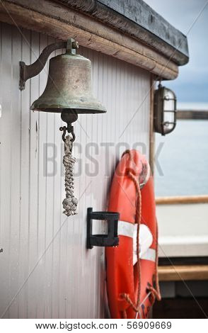 Ship's Bell  On An Old Sailboat