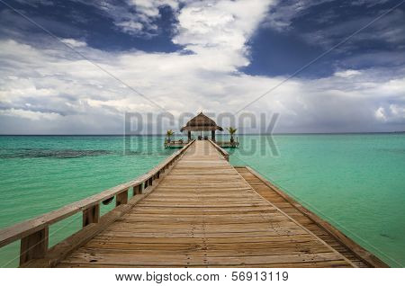 Tropical Hut On Water